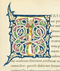 Initial T, Florence, 16th century