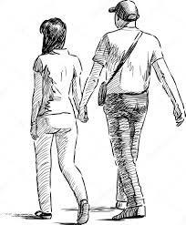 Dibujos De Jovenes Caminando Buscar Con Google Dibujos Figura Humana Figuras Humanas Dibujos
