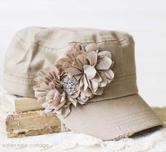 Mocha Tattered Rose Hat~ for Lindsay.she saw one at our craft show! Ladies Hats, Hats For Women, Rose Hat, Hat Crafts, Wardrobe Ideas, Classic Looks, Refashion, Creative Inspiration, Mocha