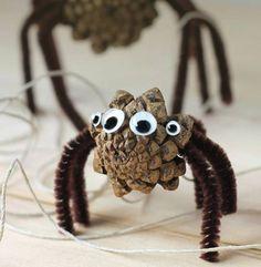 Basteln mit Tannenzapfen – Die 15 schönsten DIY Bastelideen - Spinnen