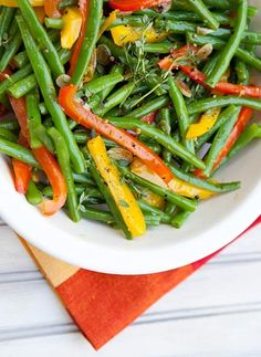 Green Beans With Peppers. - Just had it for lunch.  I will def. have it again.