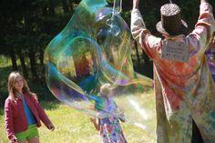 The Magic Bubble Making Man at Salt Spring Lavender Festival Family Travel, Bubble, Lavender, Salt, Magic, Island, Adventure, Spring, Nature