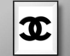 Chanel Print Chanel Art Chanel Decor Chanel Sign by CreatedByS
