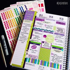 Midweek of #KADWeek! I love these colors! Shops are tagged! #KAD #KADdict #KADDicts #KrissyAnneDesigns #planner #plannergirl #plannerlove #plannernerd #plannergoodies #plannercommunity #erincondren #eclp #lifeplanner #pens #washi #washilove #stickers #stickeraddict #wlec #weloveec #pgw by jenjenplans