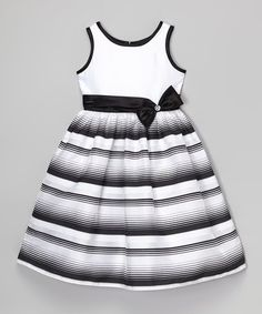 Black & White Stripe Bow Dress