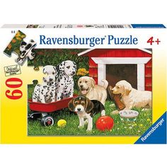 Ravensburger Puppy Party Puzzle, 60 Pieces, Multicolor