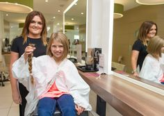 Senior Stylist Zoe Fleming liberated Amber Fleming of her ponytail recently to donate to the Little Princess Trust.