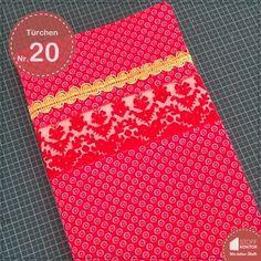 Türchen Nr. 21- Kostenlose Nähanleitung für selbst genähte Buchhüllen #adventskalender #buchhüllen #tutorial