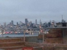 The view at dusk from Alcatraz