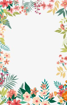 Small fresh flowers hand-painted border, Small Fresh, Fresh, Flowers PNG and PSD