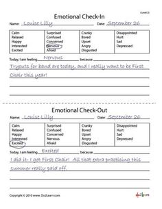 Level 2 worksheets do not include pictures of emotions.  Students are also required to write down why they are feeling a certain emotion.