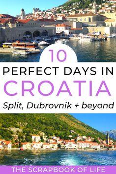 European Vacation, European Destination, Vacation Travel, Vacation Trips, Day Trips, Vacations, Travel Destinations, Travel Tips, Croatia Itinerary