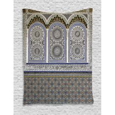 Arabian Decor Wall Hanging Tapestry, Nostalgic Moroccan Architecture With Stone Carving And Motifs Majestic Ottoman Empire Artsy, Bedroom Living Room Dorm Accessories, By Ambesonne