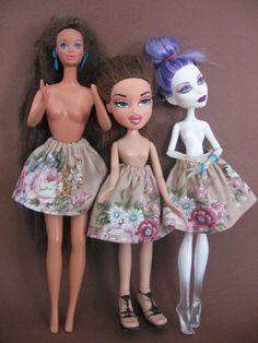 skirt  for doll Barbie  Monster High Bratz Blythe etc by nutkaart