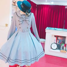"""Gefällt 141 Mal, 1 Kommentare - metamorphose (@metamorphosetempsdefille) auf Instagram: """"❤️Long Sleeve Sailor Dress ¥27864 tax in. #metamorphose #mtdf #lolitafashion #kawaiifashion…"""""""