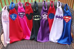 Super Hero Capes for boys and girls (2 Appliques)