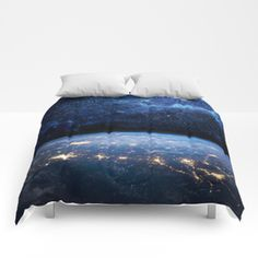 Astronomy comforters with amazing designs from thousands of artists from around the world. Soft, lightweight and warm, Comforter sets come in king, queen and full sizes.