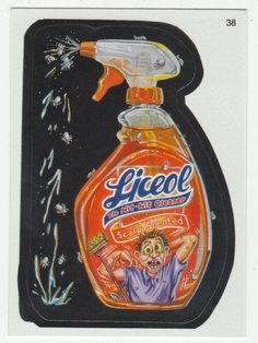 Wacky Packages All-New Series 2 # 38 Liceol The Nit-Wit Cleaner - Topps - 2005