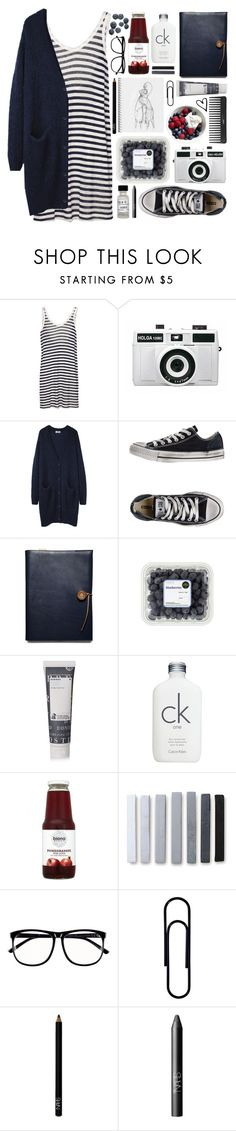 """""""Outfit 172"""" by holass ❤ liked on Polyvore featuring T By Alexander Wang, Holga, Acne Studios, Converse, Coach, Korres, Calvin Klein, H&M and NARS Cosmetics"""