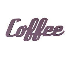 Coffee - veggord. Forskjellige ord som kan henges på veggen, eller settes på hylle. Company Logo, Logos, Projects, Logo