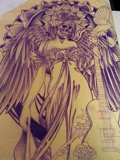 tattoo design sketch by Adam Sky, Rose Gold's Tattoo, San Francisco, CA