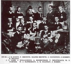 Cliftonville of Northern Ireland team group in 1887-88.