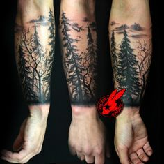 DeviantArt: More Like Tree sihlouette Arm Tattoo by Jackie Rabbit ...