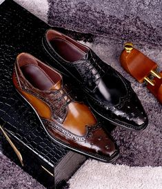 Business Style, Business Fashion, Fashion Boots, Mens Fashion, Men's Shoes, Dress Shoes, Formal Shoes For Men, Leather Skin, Haberdashery