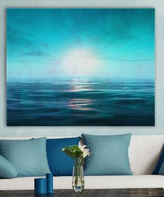This Ocean Calm in Blue Wrapped Canvas by Garbo Peng is perfect! #zulilyfinds