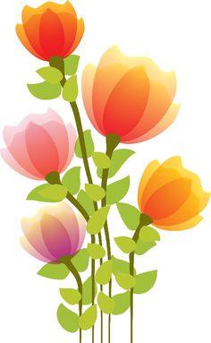 flor dibujo color png - Buscar con Google