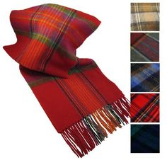 Wrap up in wool with this Irish scarf! With a huge selection of vibrant plaids and tartans, you're guaranteed to want a few of these warm wool scarves for the chilly seasons! The Irish scarf features a thin yet soft and extremely warm wool fabric providing comfort and a chic Irish style!