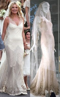 Romantic, sweeping wedding gown. Soft and elegant sparkle and ...