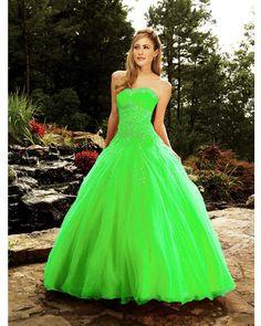 neon green quinceanera dresses - Google Search