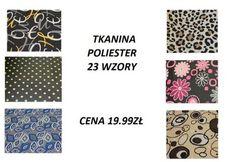 TKANINA POLIESTER wodoodporny 20  wzorów  180G/M2