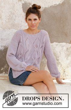 Ravelry: Sweet Topaz pattern by DROPS design Knitting Kits, Sweater Knitting Patterns, Knitting Designs, Free Knitting, Baby Knitting, Drops Design, Mode Cool, Lace Patterns, Alpacas
