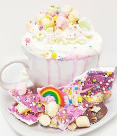 Unicorn Hot Chocolate Is at Creme and Sugar in Anaheim, Cali   The Feast