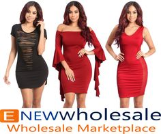 Off shoulder bodycon dress with ruffled wing sleeves.  Elastic band inserted on the shoulder top for control.   Cotnent: 96% Polyester 4%Spandex Package of 3 pieces: 1S, 1M, 1L per color only. Made in USA   - See more at: http://enewwholesale.com/md-50w713-2clr.html#sthash.VL2a5grq.dpuf