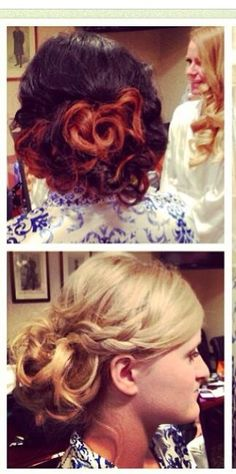 Special occasion bridesmaids updo done by me  | updo with curls | hair by Michelle M.