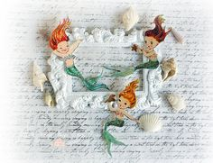 Mermaid Die Cut Embellishments  for by LittleScrapShop on Etsy