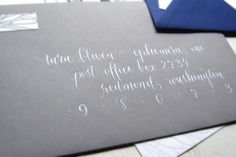 what type calligraphy for invitations envelopes | ... Letterpress-Wedding-Save-the-Dates-Ephemera-Press-Calligraphy-Envelope