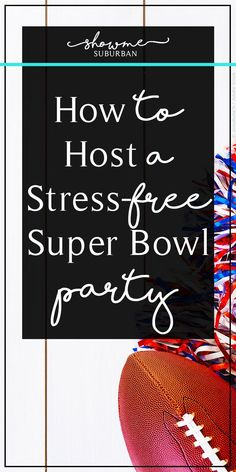 Does the thought of hosting a Super Bowl party overwhelm you? Learn how to host a stress-free Super Bowl party! Includes a quick and easy checklist, plus ideas for party favors, games, and snacks. via Suburban Super Bowl Party, Party Snacks, Party Favors, Healthy Superbowl Snacks, Quick Snacks, Vegan Snacks, Buffet Design, Party Checklist, Super Bowl Sunday