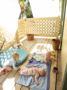 Outside space for infants