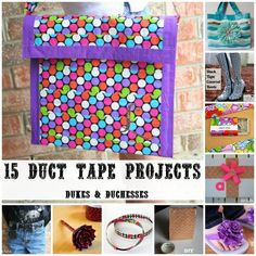 Make one of these duct tape projects and enter it in the Clark County Fair's Hobbies & Crafts Division!