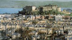 Painting of Edinburgh by Gordon McDowell Edinburgh University, Edinburgh Castle, Raise Funds, Paris Skyline, Scotland, Places To Visit, Wildlife, Auction, Cottage