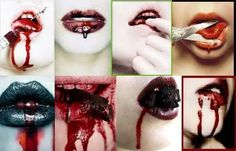 bloody lips photo: well isn't that sexy~ This photo was uploaded by Darkness_Neko