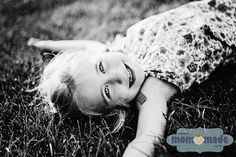 "Mom-Made | Sewing Shop and Photography Blog: ""J"" Family Portraits - 3 year old girl laying in grass"