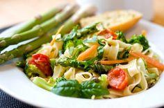 Pasta primavera   cenas nutritivas