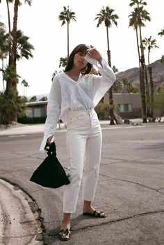 teetharejade Outfit: All White in Palm Springs Basic Outfits, Summer Fashion Outfits, Simple Outfits, Spring Outfits, Trendy Fashion, Spring Fashion, Casual Outfits, Minimal Fashion, Holiday Outfits