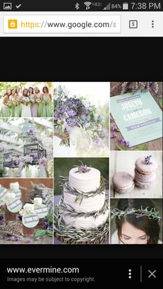 Lavender and mint blue