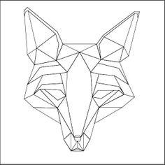 fox geometric by Sergio (sersh) Salazar, via Behance